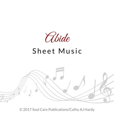 'Abide', Cathy Aj Hardy Sheet Music